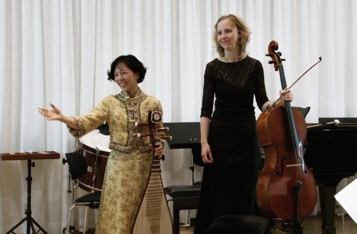 "Performance of my duo ""Migratory Journey I"" at the Confucius Institut Hamburg. (Cello: Maria Friedrich)"