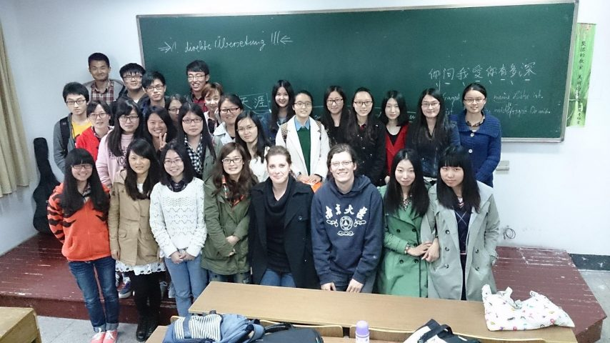 Workshop on translating poetry and lyrics at the Nanjing university.